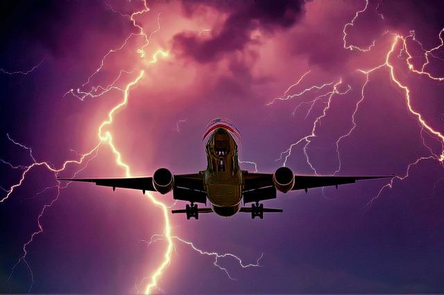 Fliegen bei Gewitter